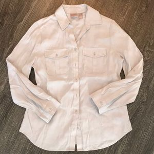 Chico's Light Grey Button Up